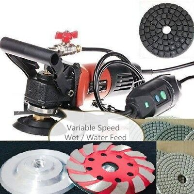 """Wet Polisher Grinder 4"""" Polishing Pad Grinding Cup 36 Piece stone Concrete renew"""