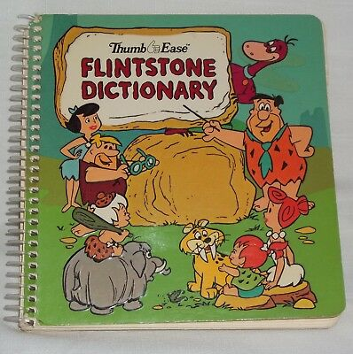Vintage 1979 Flintstones Dictionary Thumb Ease Spindex ~ Hanna-Barbera
