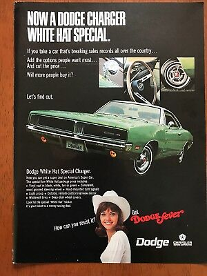 1969 Dodge Charger / White Hat Special ~ Original Print Ad