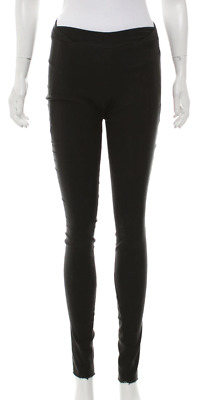 URBAN ZEN Black Distressed Bottom Mid-Rise Pull on Pants Size 4