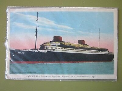 SS Bremen Postcard in Excellent Condition