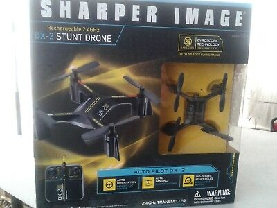Sharper Image Rechargable 24ghz Dx 2 Stunt Drone New 2800