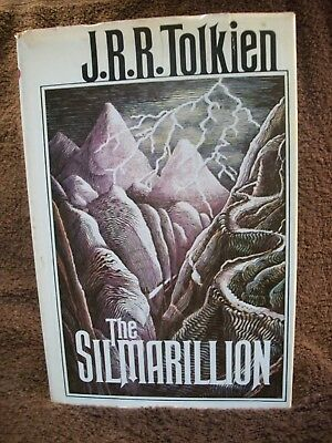 The Silmarillion by J. R. R. Tolkien (1977, H/c) 1st American Ed. With Map