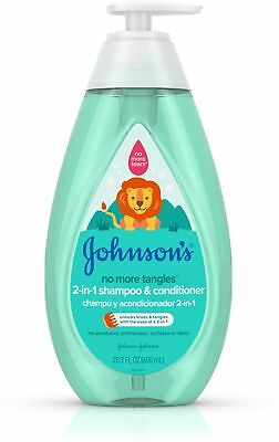 JOHNSON'S Tear Free Detangling 2 in 1 Toddler Shampoo - Conditioner 20.3 oz