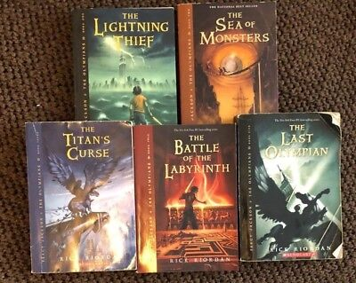 Percy Jackson and the Olympians by Rick Riordan Complete Paperback Set