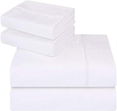 2x Cot Bed Fitted Sheet White Cotton Rich 120cm x 60cm size Nursery Crib Bedding