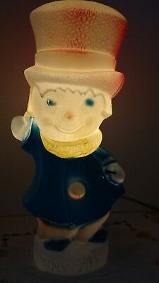 "Vintage Empire Christmas TINY TIM Blowmold Light Up 13"" Table Top Decoration"