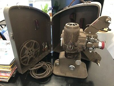 Bell Howell 16mm Silent Film Movie Projector & Case Works 1950's