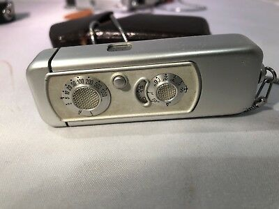Minox Camera. model A Complete with Case and Chain