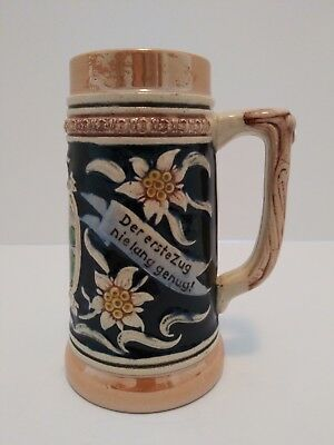 Vintage Ceramic German Beer Stein Mug Made in Germany