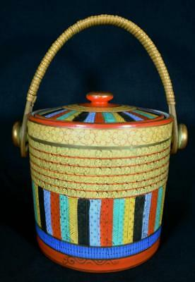 Antique Japanese Art Deco Porcelain Biscuit Barrel