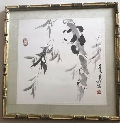 Chinese Antique/Vintage Ink Wash Painting Of A Panda