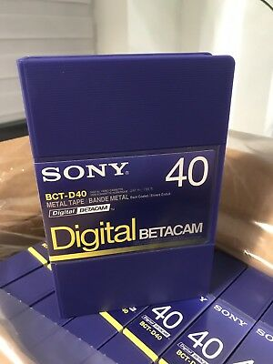 Sony BCT-D40 Digital Betacam Tapes (x10) Brand New Boxed!