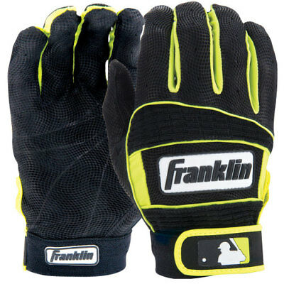 Franklin Neo Classic II Batting Gloves - Adult Sizes - Black/Optic Yellow