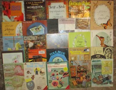 HUGE Tole Painting Patterns Pen Ink Decorative Artist Folk Art Books Magazines