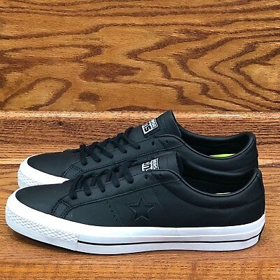 b026ffa18b9 CONVERSE ONE STAR Leather Ox Size 12 Mens Black Brown White -  60.00 ...