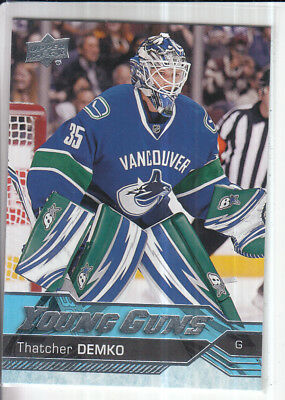 16/17 Ud Series 2 Thatcher Demko Young Guns Rc Sp Rookie #472