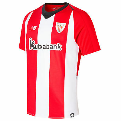 54427906f45 Athletic Bilbao Football Home Jersey Shirt Tee Top 2018 19 Mens New Balance