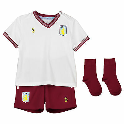 big sale d0938 64178 ASTON VILLA AWAY Baby Kit Shirt Shorts Jersey Suit Soccer Sportswear 2018 19