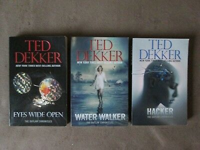 Lot of 3 TED DEKKER Soft Covers, The OUTLAW CHRONICLES Trilogy Series
