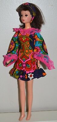 Handmade OOAK *Walk on By* Mod Outfit Dress for Vintage Francie Barbie Doll