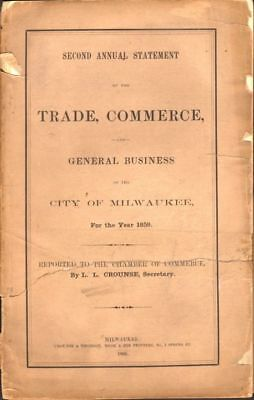 L. L. Crounse / Second Annual Statement of the Trade Commerce and General 1st ed