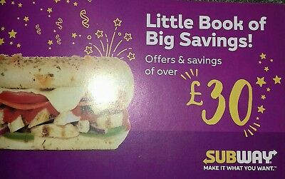 Subway Booklet Of 12 Money Off Vouchers