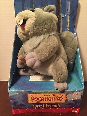 Disney Pocahontas Plush Stuffed Animal Forest Friends Beaver Toy Rare