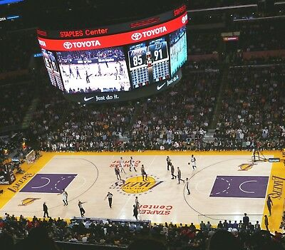 Lakers Lebron James 1/21/19 Golden State Warriors 2 Tickets Los Angeles Staples