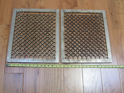 "Antique Matching Floor or Ceiling Grates, 17"" x 13.75"", Vintage Restoration Tool"