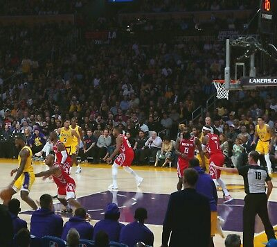 LAKERS vs GOLDEN STATE WARRIORS 1/21/19 TICKET LEBRON JAMES STAPLES LOS ANGELES