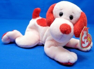 TY BEANIE BABY ~ LOVEY-DOVEY the PINK VALENTINE S DOG ~ 7