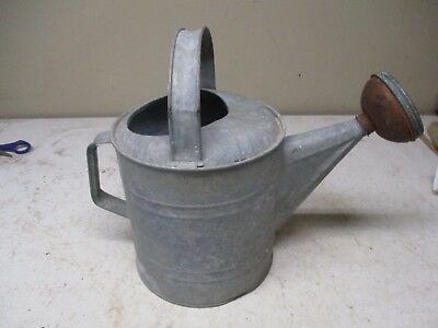 Old Galvanized Metal Garden Water Sprinkler Can