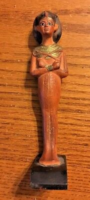 Ancient Egyptian Reproduction Pharaoh With Rounded Crown Statue Sculpture