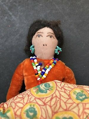 Vintage Navajo Indian Hand Made 1950s Doll
