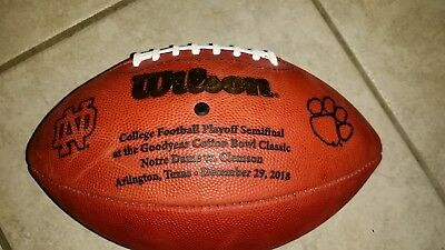 2018 Cotton Bowl Souvenir Football, Playoff Game Clemson /  Notre Dame