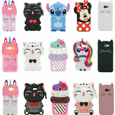 3D Cartoon Soft Rubber Silicone Kids Case For Samsung J3 Star Express Prime 3