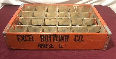 Vintage Excel Botling Co.  Breese Illinois Soda Crate / Box 18 ''X 12'' x 4''