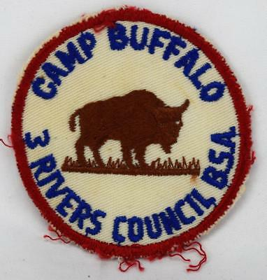 Vintage Boy Scouts of America Camp Buffalo 3 Rivers Council Patch