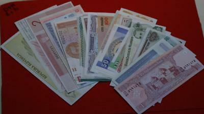 Uncirculated 50 Foreign Notes Mixed Countries