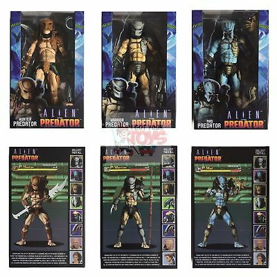 "HUNTER MAD WARRIOR PREDATOR SET OF 3 Neca ALIEN vs PREDATOR ARCADE 2019 7"" Inch"