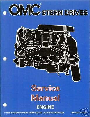 1998 Omc Stern Drive Engine Service Manual New