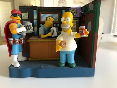 the simpsons toys Moe's Tavern/Duffman comes with Moe, and Homer too! Simpson's