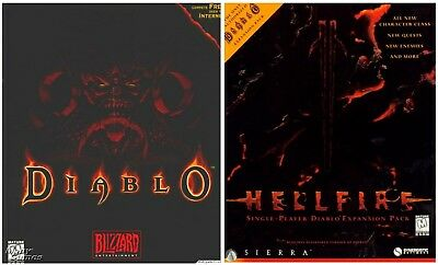 DIABLO AND HELLFIRE EXPANSION +1Clk Windows 10 8 7 Vista XP Install