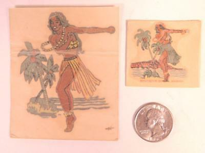 Two vintage Hawaiian Decals Souvenirs of Hawaii Made in USA B5S2