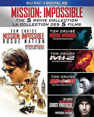 Mission Impossible 5 Movie Collection (Blu-ray 5 Discs) Tome Cruise