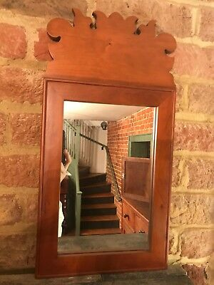 Reproduction 18th Century Queen Anne Style Mirror Made by Benner's Woodworking