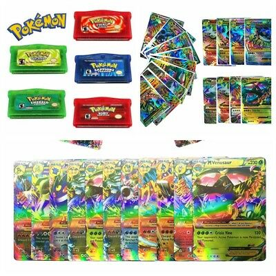 Hot Paper Cards Pokemon Toys Game Cards For Nintendo GBA GBM SP NDS NDSL Gameboy