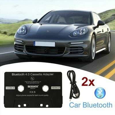 2x Bluetooth Car Audio Cassette Tape Adapter Receiver for iphone iPod Android