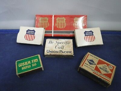 Vintage Lot of Union Pacific & Other Advertising Matches/Matchpacks/Books